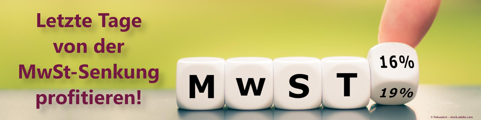 Profitiere von der MwSt-Senkung